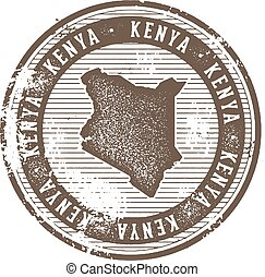 Kenya Vintage Country Stamp for Tourism - Vintage style...