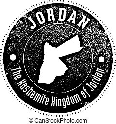 Vintage Jordan Country Stamp