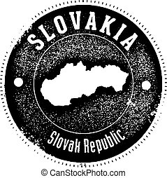 Vintage Slovakia Country Stamp - Vintage style stamp...