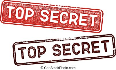 Top Secret Document Rubber Stamps - Rubber stamp style...