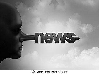 Fake News Concept - Fake news concept and hoax journalistic...