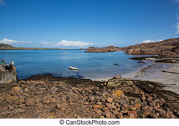 Fionnphort beach Isle of Mull Scotland UK near Iona island