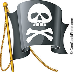Jolly Roger Vector illustration over white EPS 8, AI, JPEG