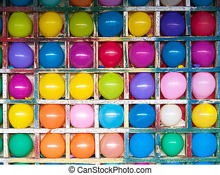 Colorful balloons - colorful balloons arranged for a game