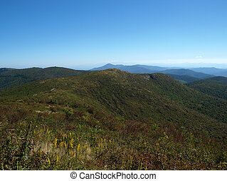Mountain View - View along the Art Loeb Trail in the Shining...
