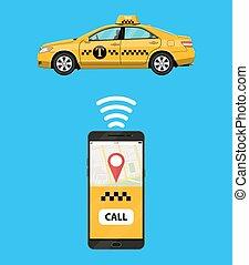 Taxi mobile app concept