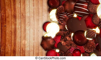 Valentine's day, An assortment of fine chocolates, Loop -...