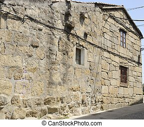 Stone house in Cambados, a town of the province of...