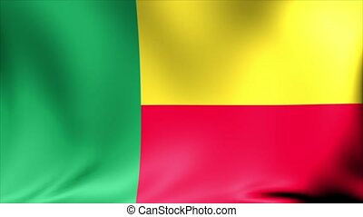 Benin Flag. Background Seamless Looping Animation.