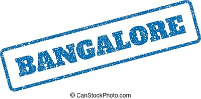 Bangalore Rubber Stamp - Blue rubber seal stamp with...