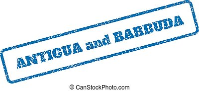 Antigua and Barbuda Rubber Stamp - Blue rubber seal stamp...
