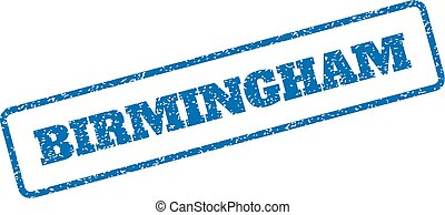 Birmingham Rubber Stamp - Blue rubber seal stamp with...