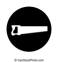 handsaw tool isolated icon vector illustration design