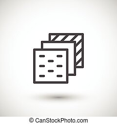 Insulation layers line icon isolated on grey. Vector...