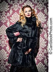 fascinating young woman - Beautiful blonde woman wearing...