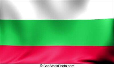 Bulgaria Flag. Background Seamless Looping Animation. 4K...