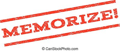 Memorize! Watermark Stamp - Memorize! watermark stamp. Text...