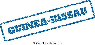 Guinea-Bissau Rubber Stamp - Blue rubber seal stamp with...