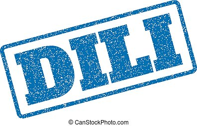 Dili Rubber Stamp - Blue rubber seal stamp with Dili text....