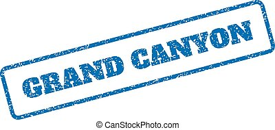 Grand Canyon Rubber Stamp - Blue rubber seal stamp with...