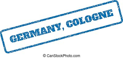 Germany Cologne Rubber Stamp - Blue rubber seal stamp with...