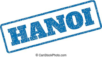 Hanoi Rubber Stamp - Blue rubber seal stamp with Hanoi text....