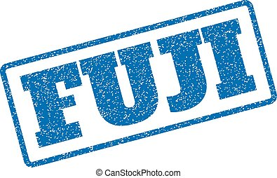 Fuji Rubber Stamp - Blue rubber seal stamp with Fuji text....