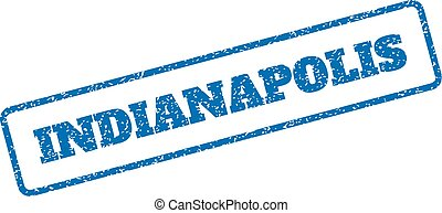 Indianapolis Rubber Stamp - Blue rubber seal stamp with...