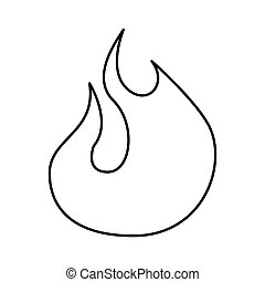 fire flame sign isolated icon vector illustration design