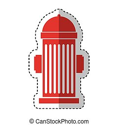 hydrant sign isolated icon vector illustration design