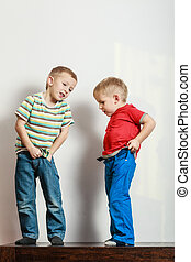 Two Little boys dress up clothes. - Fitting garment for...
