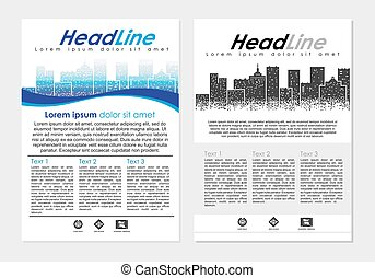 Big City flayer. - Vector design template Big City Business...