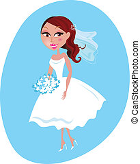 Happy smiling Bride illustration