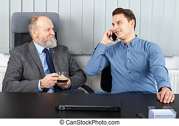 Businessman having a meeting - Picture of two businessman...