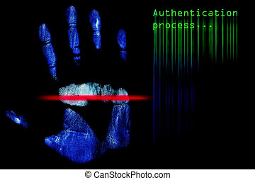 Fingerprint Authentication - High resolution image of human...