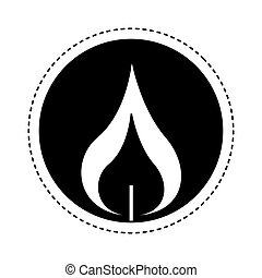 candle first communion icon vector illustration design