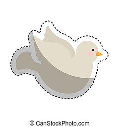 dove first communion icon vector illustration design