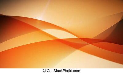 Flowing orange waves. Abstract futuristic motion background.