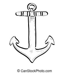 Isolated anchor outline