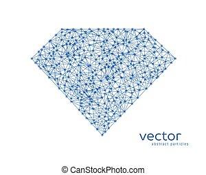 Abstract vector illustration of diamond.