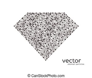 Abstract vector illustration of diamond. - Abstract vector...
