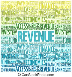 REVENUE word cloud, business concept