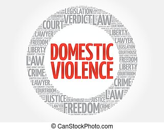 Domestic Violence word cloud concept