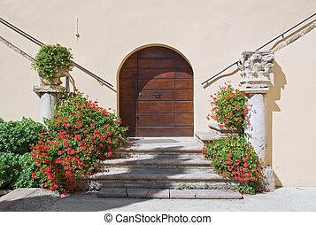 Cloister of St. Maria Maggiore Church. Spello. Umbria.