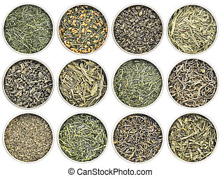 loose leaf green tea collection - green tea sampler -...