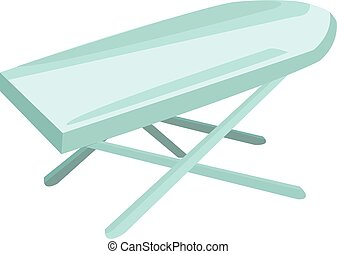 ironing board - Ironing board turquoise color on a white...