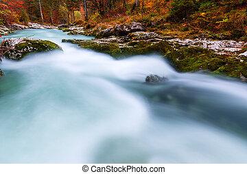 Canyon Mostnica near lake Bohinj in Slovenia (Mostnice...