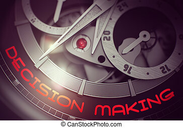 Decision Making on the Old Watch Mechanism. 3D.