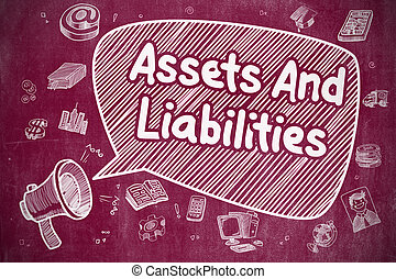 Assets And Liabilities - Business Concept. - Business...