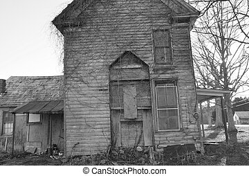 Falling down - Old abandonded house out in the country that...